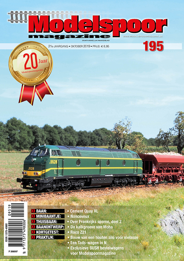 Cover Modelspoormagazine 195